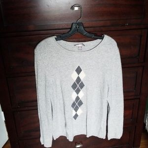 Gray 100% 2-Ply Cashmere Sweater